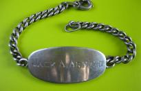 US ARMY NAMED BRACELET SERIAL NUMBER AND DEDICATION TO HIS WIFE