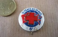 IN PEACE AS IN WAR AUSTRALIAN RED CROSS PIN