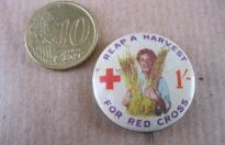 REAP A HARVEST FOR RED CROSS COMMONWEALTH PIN