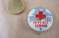 IN PEACE AS IN WAR COMMONWEALTH RED CROSS PIN