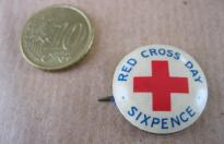 RED CROSS DAY  SIX PENCE COMMONWEALTH PIN